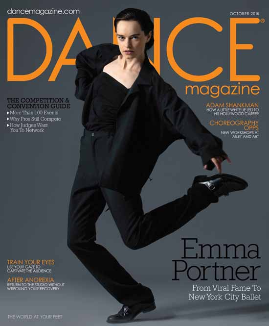 Emma Portner in the cover of Dance Magazine.