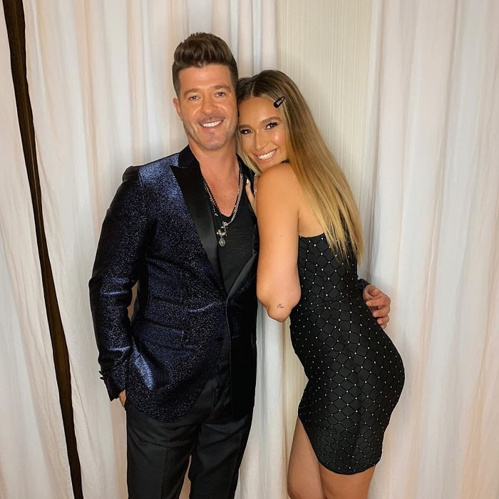 April and her loving fiance, Robin Thicke.