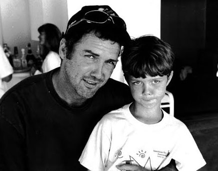 A picture of Connie MacDonald's ex-husband and their son.