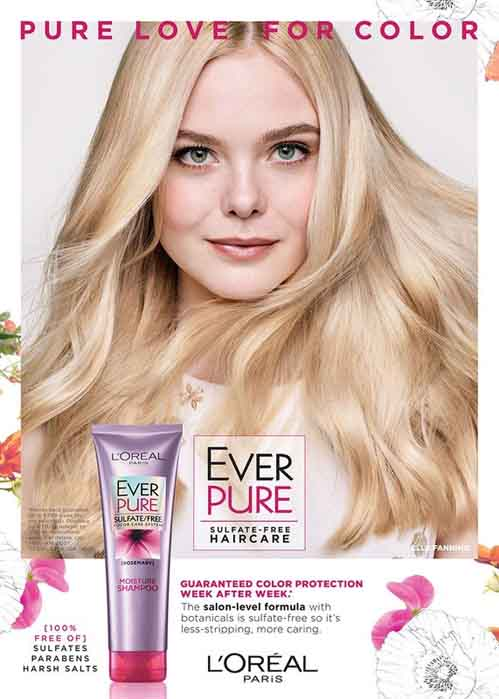 Elle Fanning in a cover of L'Oreal.