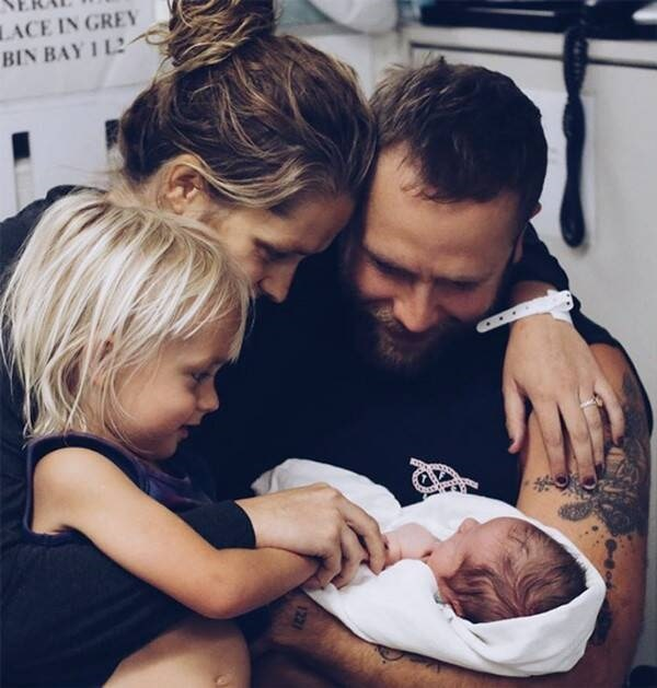 Bodhi and his parents with his new born sibling, Forest Sage.