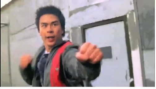 A picture of Gareth Yuen in a martial arts position in Power Ranger.