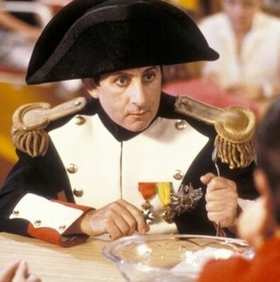 A picture of Terry Camilleri as Napoleon in Bill & Ted's Excellent Adventure.