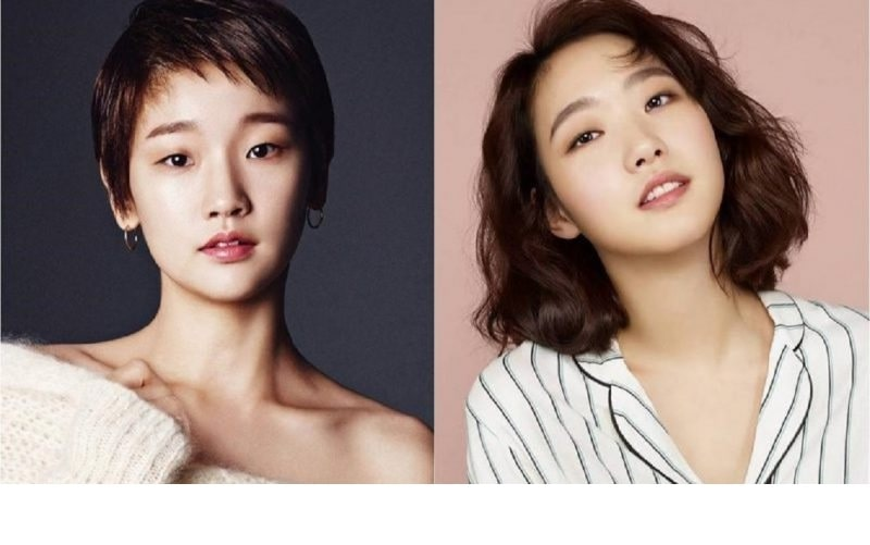 A picture of Park So-dim (left) who has similar face structure with Kim Go Eun(right).