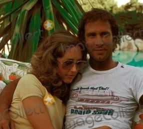 A picture of Chevy Chase with his ex-wife, Suzanne Chase at their young days.