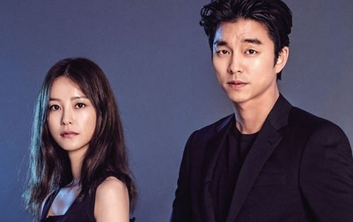 A picture of Jung Yu-mi and her good friend  Gong Yoo.