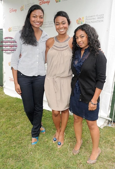 A picture of Tatyana Ali with her younger sisters.