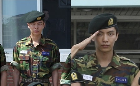 A picture of Lee Min-ki in military uniform.