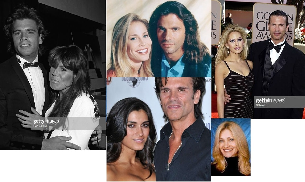 picture of all five Lorenzo Lamas's wives.