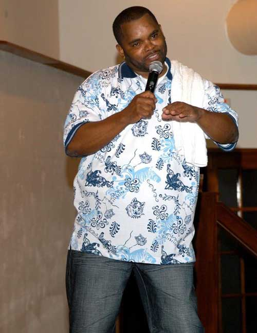 Anthony Johnson as a stand-up comedian.