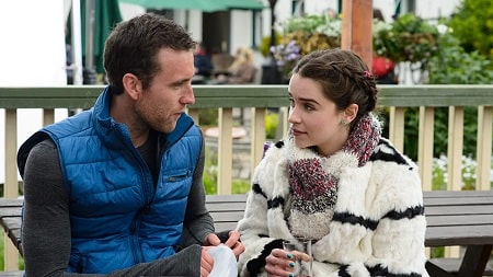 A picture of Matthew Lewis and Emilia Clarke in Me Before You.