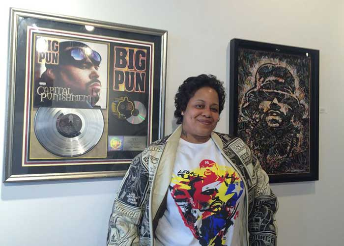 A picture of Big Pun wife Liza Rios.