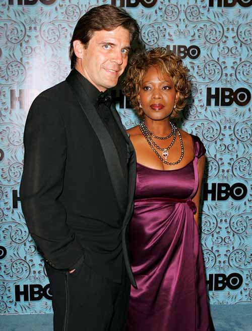 Roderick Spencer and Alfre Woodard together for a picture.