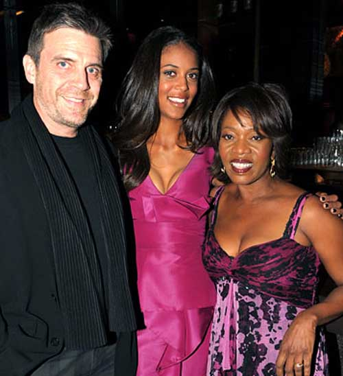 Roderick Spencer and Alfre Woodard with their daughter.