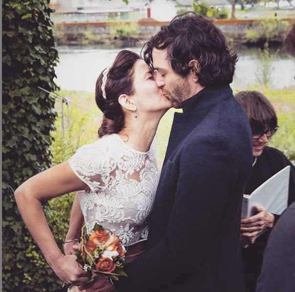 A picture of Luke Camilleri kissing his beloved wife Isabel.