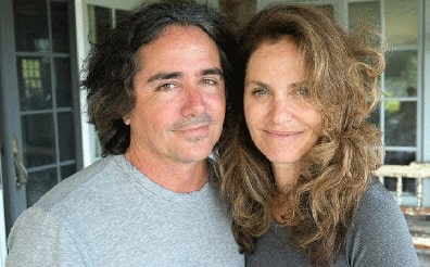 A picture of Brad Silberling with his wife Amy Brenneman.