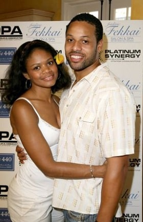 A picture of Kimberly Elise with her former spouse, late Maurice Oldham.