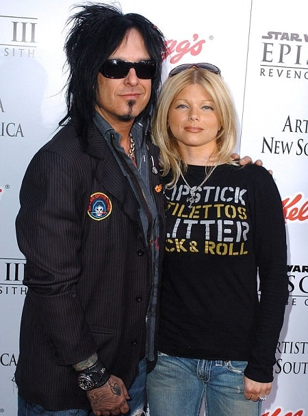 A picture of Nikki Sixx and his ex-wife, Donna D'Errico.