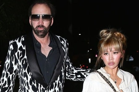 A picture of Nicolas Cage and his fourth ex-wife, Erika Koike.