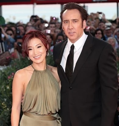 A picture of Nicolas Cage with his ex-wife, Alice Kim.