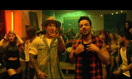 Luis Fonsi with Daddy Yankee in the song Despacito.