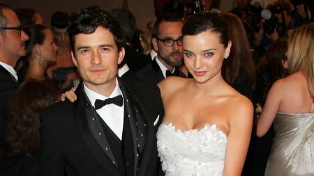 A picture of Flynn's parents Orlando Bloom and Miranda Kerr.