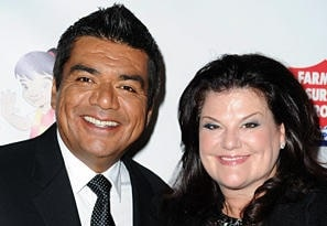 A picture of George Lopez with his wife Ann Serrano.