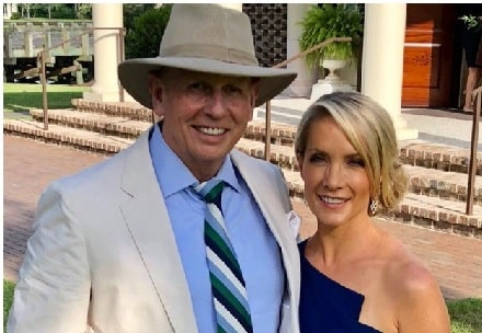 A picture of Peter McMahon with his wife Dana Perino.