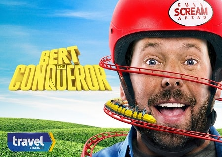 A picture of Bert Kreischer in the television show Bert the Conqueror.