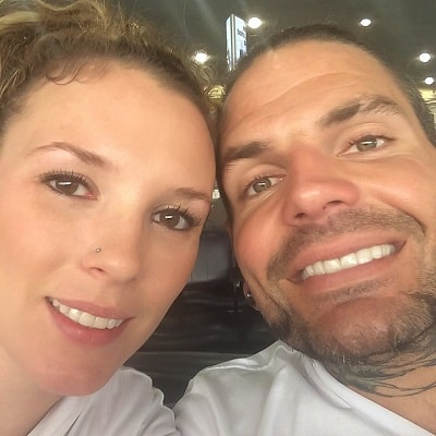 A picture of Beth Britt with her husband, Jeff Hardy.