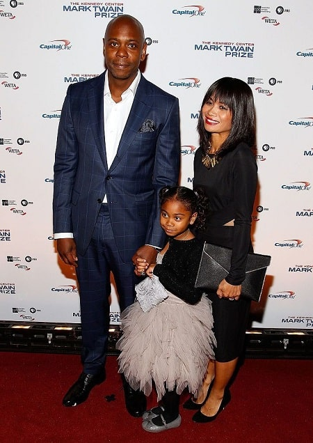 A picture of Sonal Chappelle with her father Dave Chappelle and mother Elaine Chappelle.