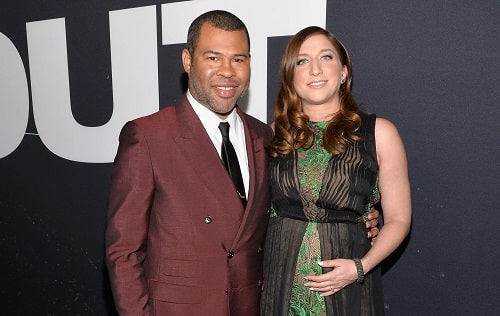 A picture of Chelsea Peretti with her husband, Jordan Peele.