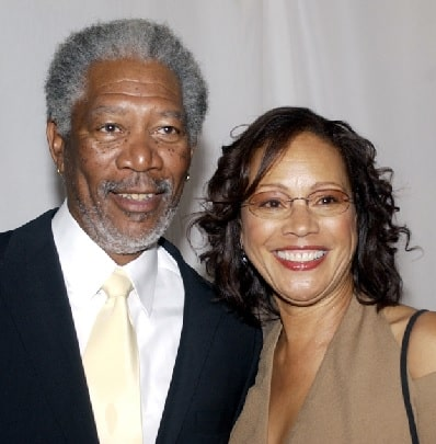 A picture of Myrna Colley-Lee smiling with her ex-husband Morgan Freeman.