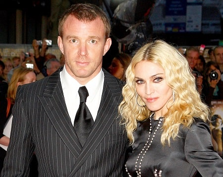 A picture of David's parents; Madonna and Guy Ritchie.