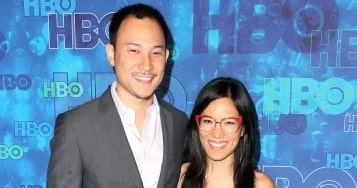 A picture of Ali Wong with her husband Justine Hakuta.