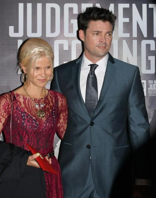 A picture of Natalie Wihongi and his ex-husband Karl Urban.