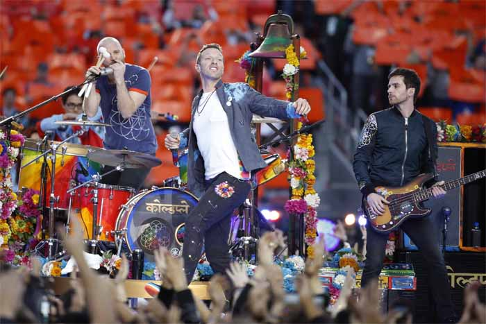 A picture from Coldplay concert.