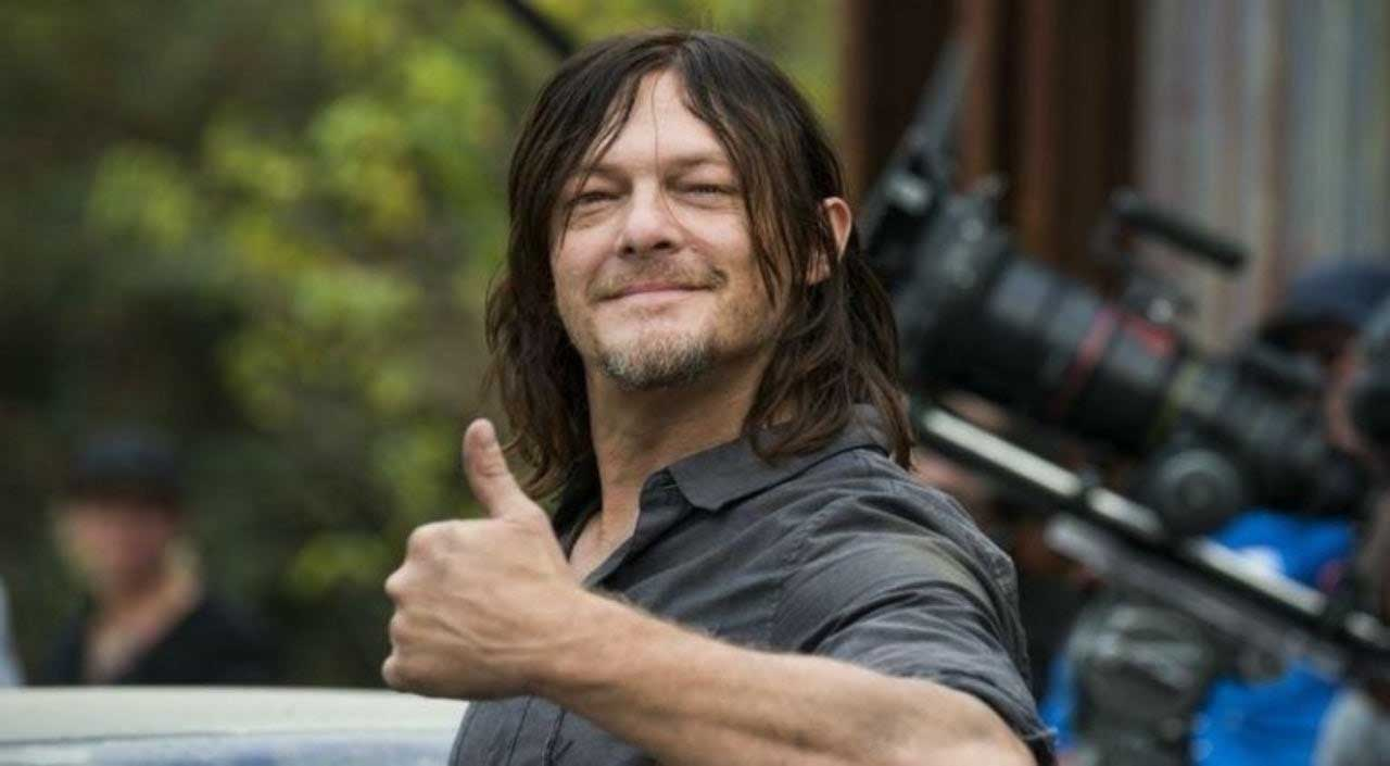 A picture of Norman Reedus from The Walking Dead.