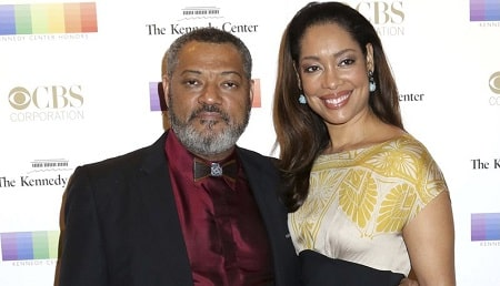 A picture of Delilah Fishburne's parents; Laurence Fishburne and Gina Torres.