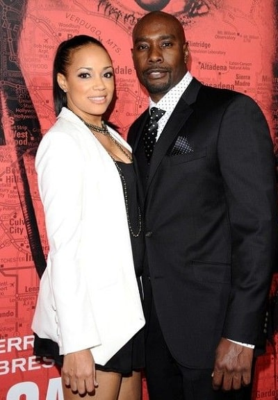 A picture of Pam Byse with her husband, Morris Chestnut.