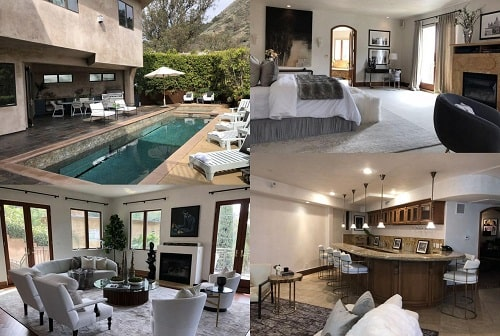 A picture of The Hollywood Hills mansion of Eva Longoria which was declared for sale.