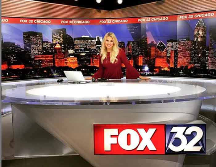 Shae Peppler live in Fox 32 News.