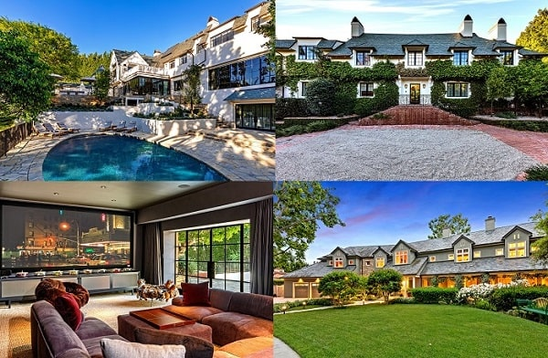 A picture of The  lavish mansion of Portia and Ellen in Beverly Hills.