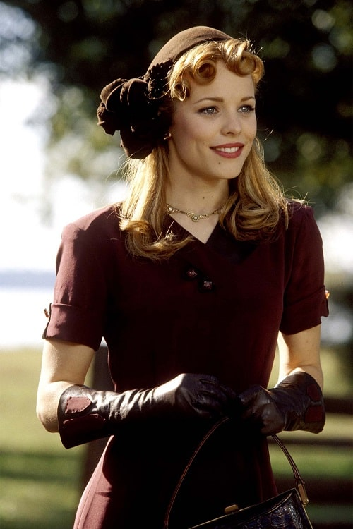A picture of Rachel McAdams in the movie 'The Notebook'.