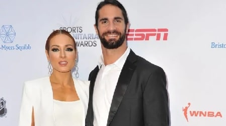 A picture of Becky Lynch with her boyfriend Seth Rollins.