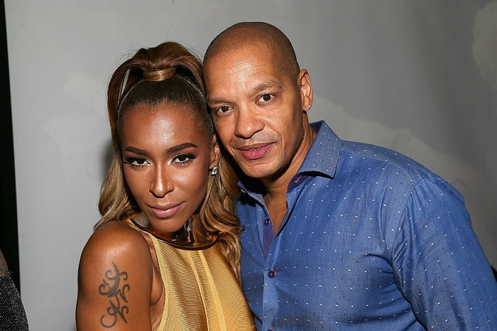 A picture of Amina Buddafly with her ex-husband Peter Gunz.