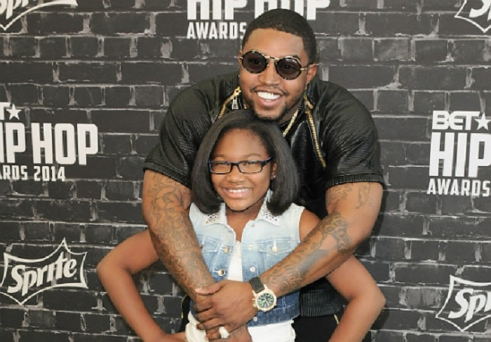 Emani Richardson and her father Lil Scrappy at BET Hip Hop Award show