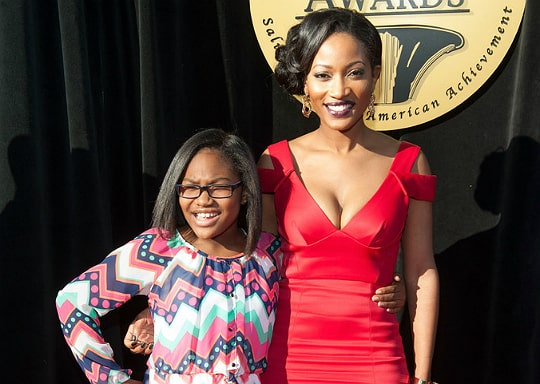 Emani Richardson with her mother Erica Dixon at 23rd Trumpet Award show