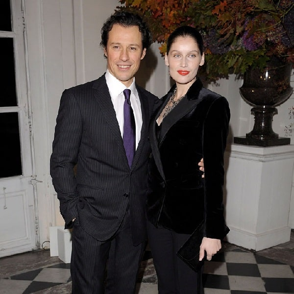 A picture of Stefano Accorsi with his ex-fiancee Laetitia Casta.