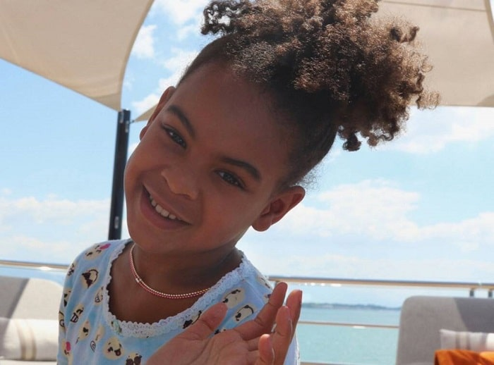 Blue Ivy Carter during her vacation.